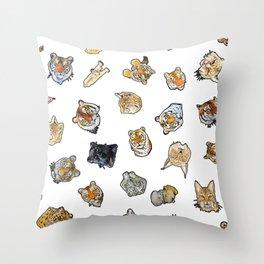 Big Cat Repeat 1 Throw Pillow