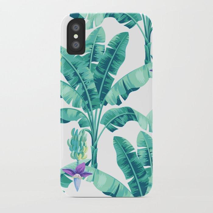 Banana leaf bloom iPhone Case