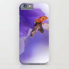 Ladybird on violet iPhone 6s Slim Case