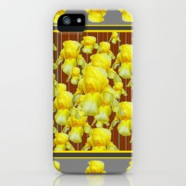 """""""FOR LOVE OF YELLOW IRIS"""" iPhone Case"""