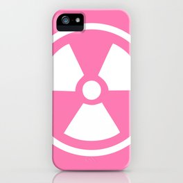 Pink Radioactive Symbol iPhone Case