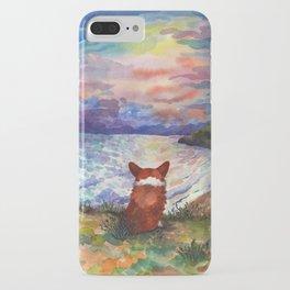 Corgi - sunset adorer iPhone Case