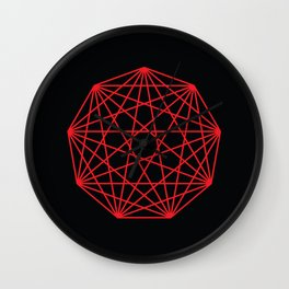 Interconnected Nonagon Shape Wall Clock