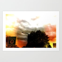 Welcomg to Lansing Art Print