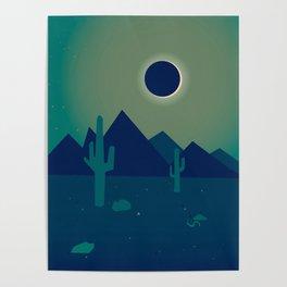 Desert Eclipse Poster