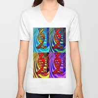 dna V-neck T-shirts featuring DNA by Art By Carob