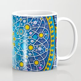 Blue geometry Coffee Mug