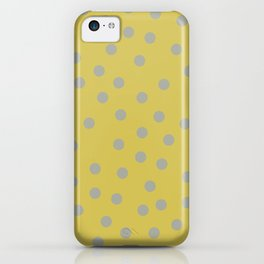 Simply Dots Retro Gray on Mod Yellow iPhone Case