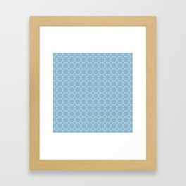 Soft Blue Geometric Pattern with Circles & Squares Framed Art Print