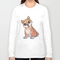 shiba inu Long Sleeve T-shirts featuring Shiba Inu by Suzanne Annaars