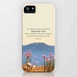 Jeremiah 29:11 iPhone Case