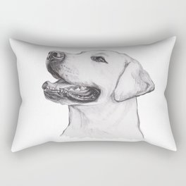 Gotta draw the smiley yelow lab Rectangular Pillow