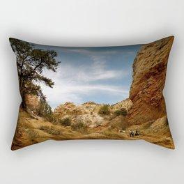 Backpacking in Utah Rectangular Pillow