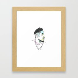 The Rapper-a-Day Project | Day 20: Kendrick Lamar Framed Art Print