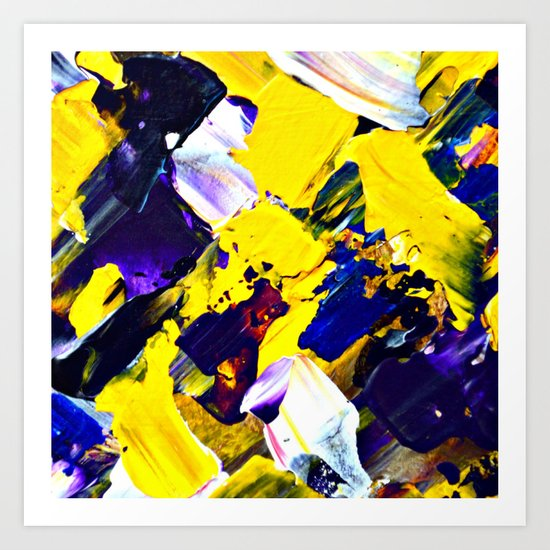 Yellow Intersections Art Print