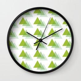 Triangle Jungle Wall Clock