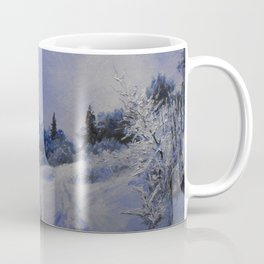 winter first comes in the mountain  Coffee Mug