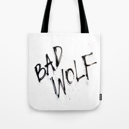 Doctor Who bad wolf Tote Bag