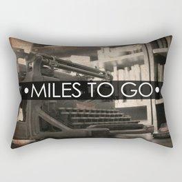 Miles to go - typewriter Rectangular Pillow