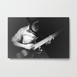 Bassist in a mask Metal Print