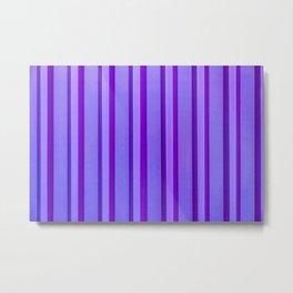 Stripes - Violet Metal Print