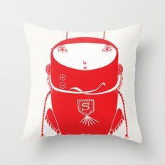 Red cricket Throw Pillow