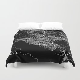 cTm Corona Map Duvet Cover
