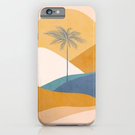 Tropical Palm Sunset - Abstract landscape iPhone Case