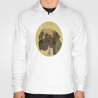 great dane Hoodies featuring the great dane by bri.buckley