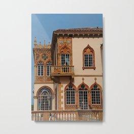 Architecture of Ca'D'Zan -House of John Ringling III Metal Print