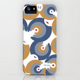 Mano Semilla/Hand Seed--Blue iPhone Case