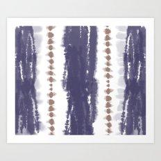 Brown and Blue Tie-Dye Art Print