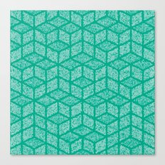 Kenna (Green) Canvas Print