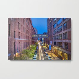 Sky Bridge Over NYC Metal Print