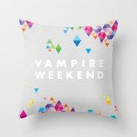 vampire weekend Throw Pillows featuring Vampire Weekend  2 by alboradas