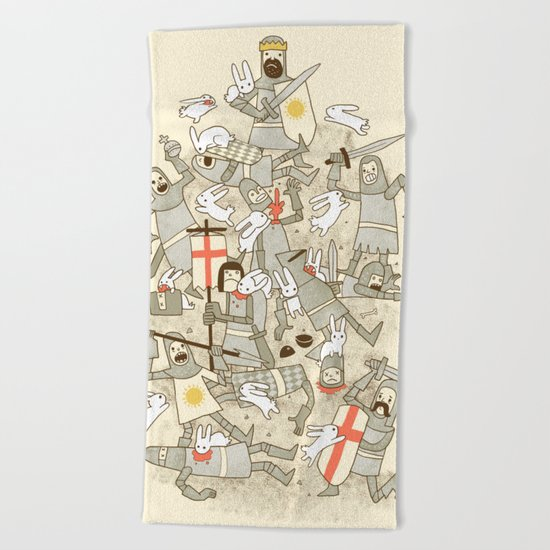Bad Tempered Rodents Beach Towel