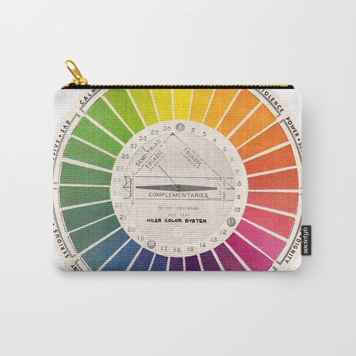 Vintage Color Wheel - Art Teaching Tool - Rainbow Mood Chart Pride Tasche