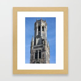 Belfry Tower In Bruges Belgium Framed Art Print
