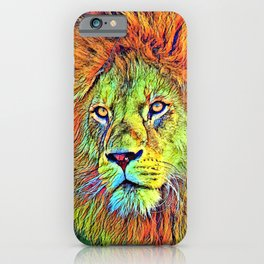 AnimalColor_Lion_009_by_JAMColors iPhone Case