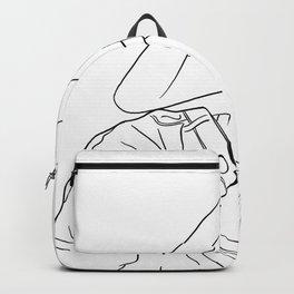 minimal fashion line art - jeans Backpack
