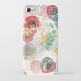 Golden flowers iPhone Case