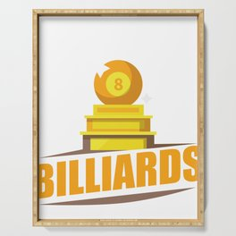 Billiards All About Billiards Serving Tray