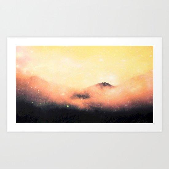 Cosmic landscape #stardust #society6 Art Print