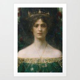 Lady Mourning Art Print