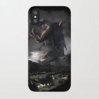 kaiju iPhone & iPod Cases featuring El Kaiju by SkullsNThings