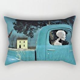 Surreal Studebaker Skeleton Rectangular Pillow