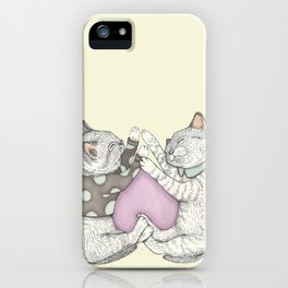 Kitties Heart iPhone Case