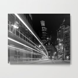 City of London, Nightime Metal Print