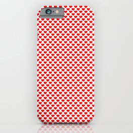Red Heart Pattern iPhone Case
