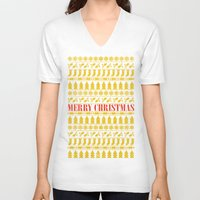 merry christmas V-neck T-shirts featuring Christmas Merry! by Fimbis